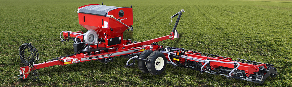 Cover Crop Seeder for Rolling Harrow