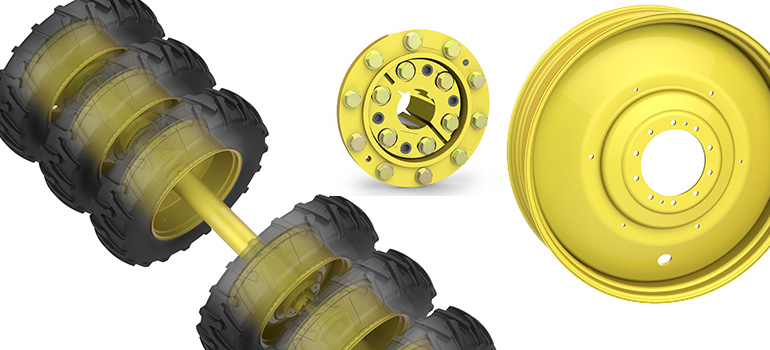 Direct Axle Dual Wheels Unverferth Wheel Products